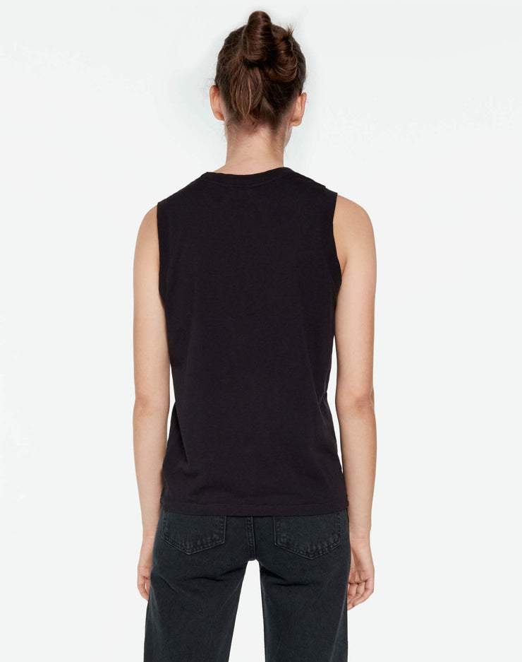 Modern 70s Long Muscle Tee - Black