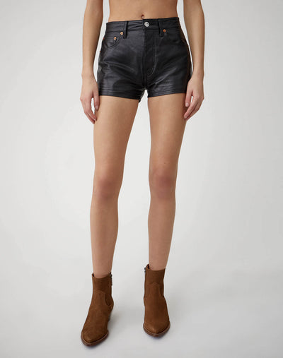 Leather Short | Black | 750-9WLES | 1
