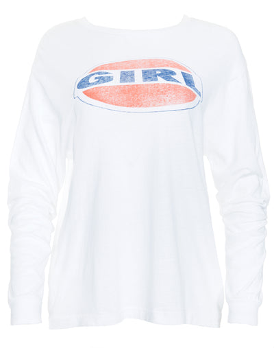 Girl Graphic L/S Tee - Optic White