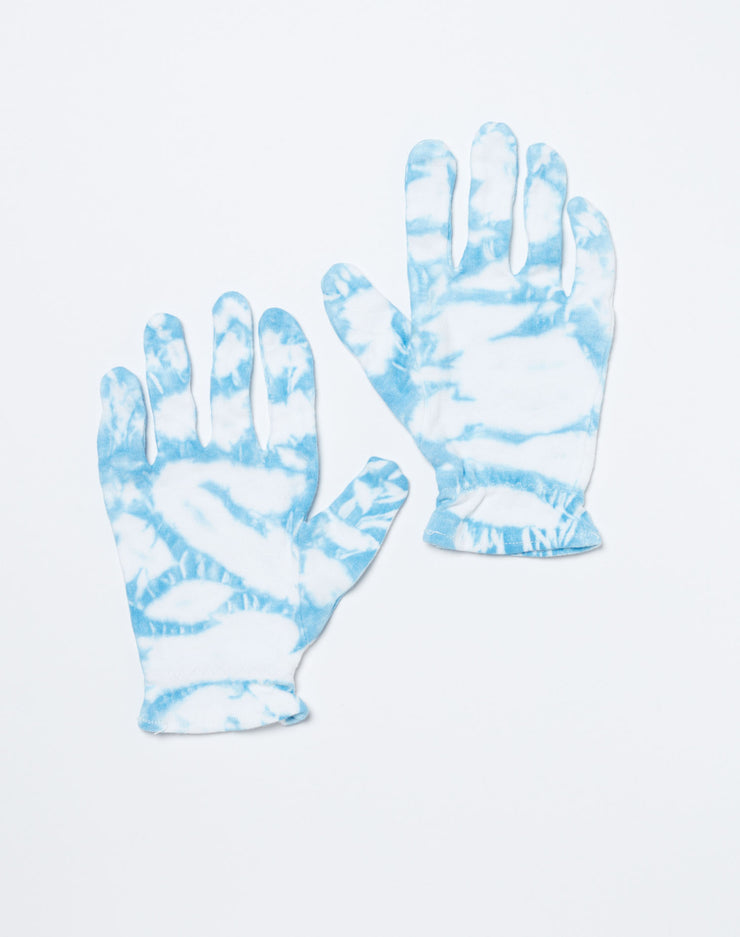 Cotton Gloves - Blue Tie Dye