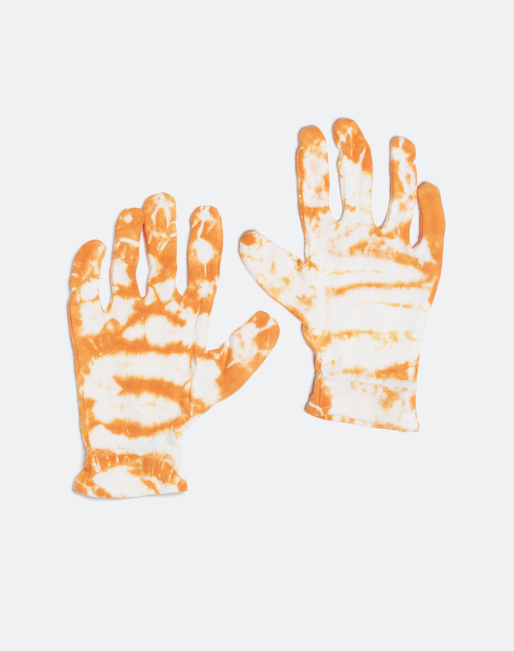 Cotton Gloves - Tangerine Tie Dye