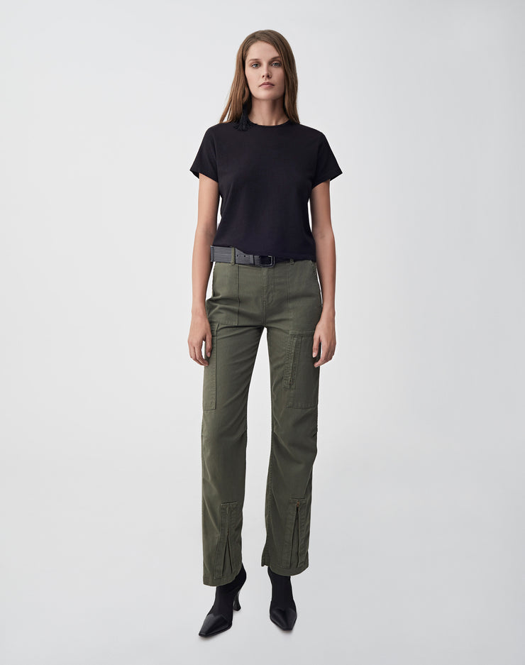 High Waisted Cargo | Army Green | 324-3WHWC | 2