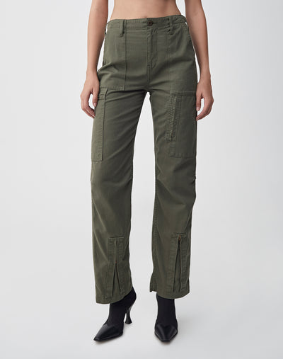 High Waisted Cargo | Army Green | 324-3WHWC | 1
