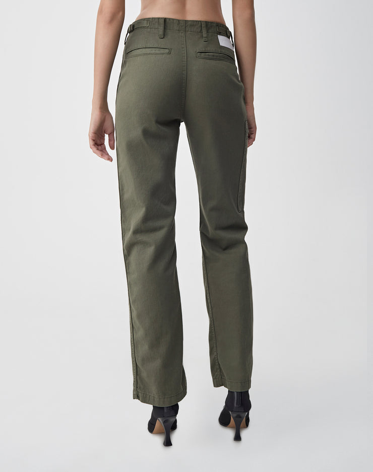 High Waisted Cargo | Army Green | 324-3WHWC | 4