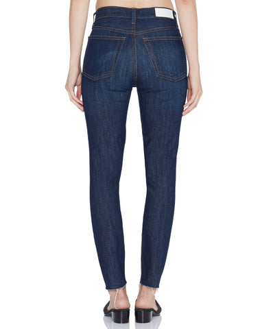 Rigid High Rise Ankle Crop - Rinse