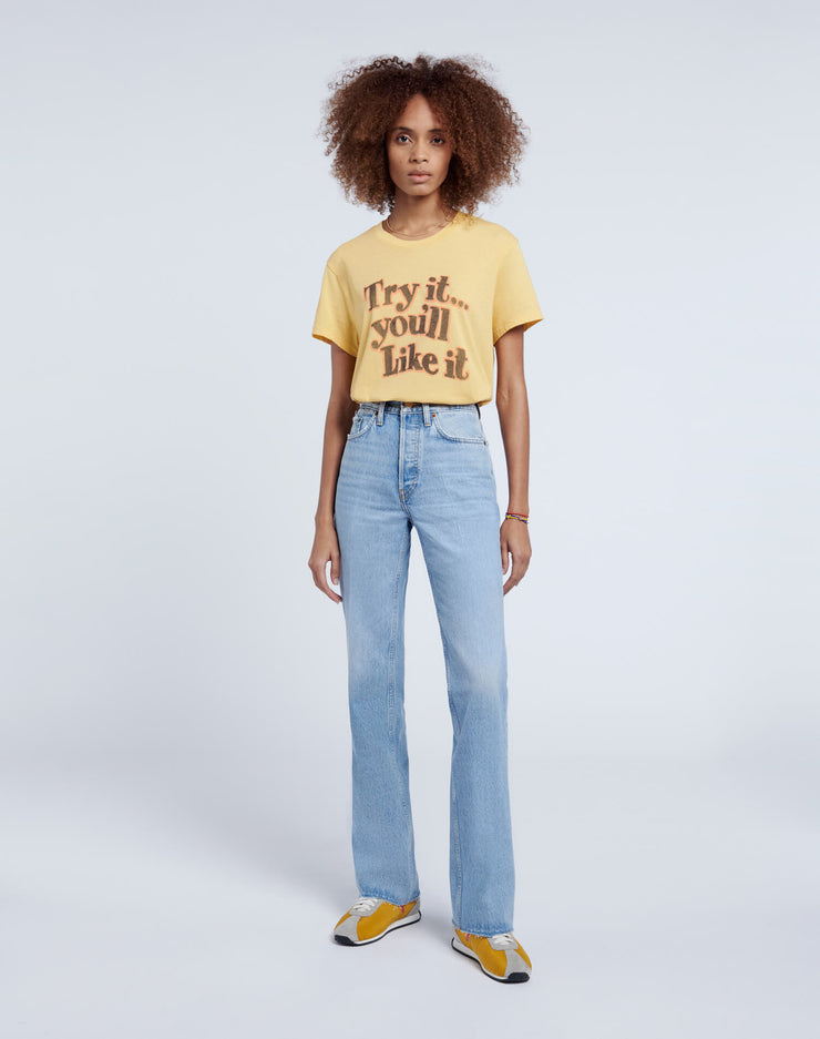 "70s Loose ""Try it"" Tee - Vintage Gold"