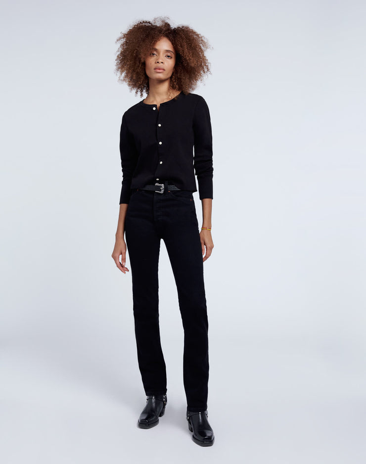 Comfort Stretch Slim Straight - Jet Black