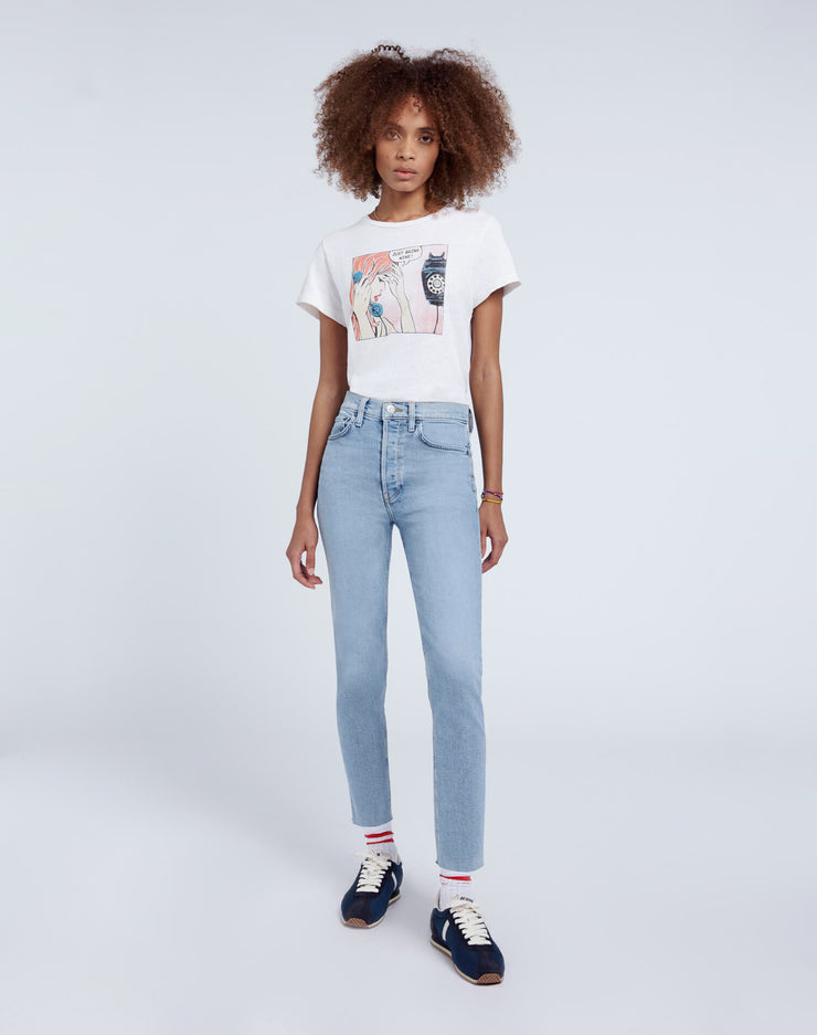 Comfort Stretch High Rise Ankle Crop - Perfect Indigo