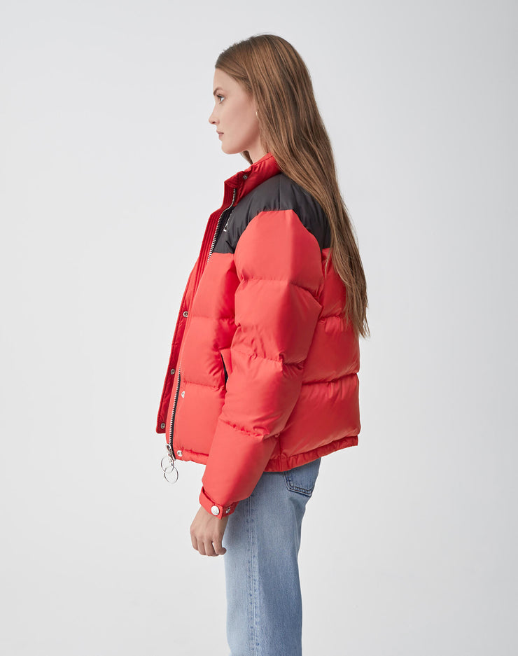Cropped Puffer | Red & Black | 722-4WCP | 3