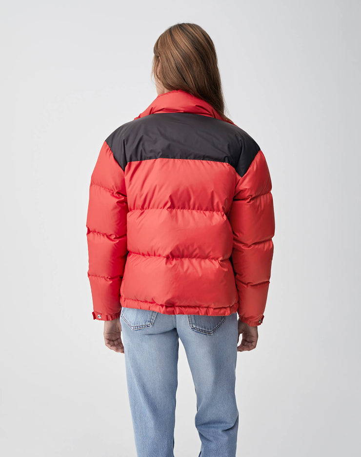 Cropped Puffer | Red & Black | 722-4WCP | 4