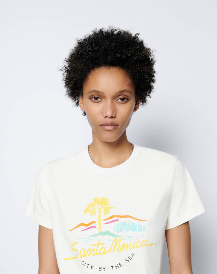 "70s Loose ""City By the Sea"" Tee - Vintage White"