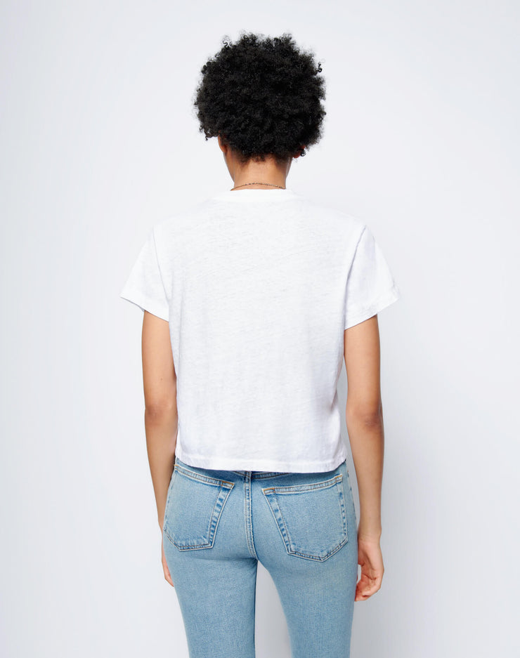 Heritage Cotton 1950s Boxy Tee - Optic White
