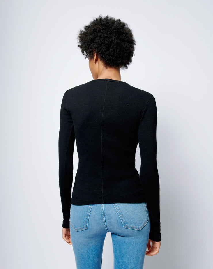 60s Slim Long Sleeve Tee - Black