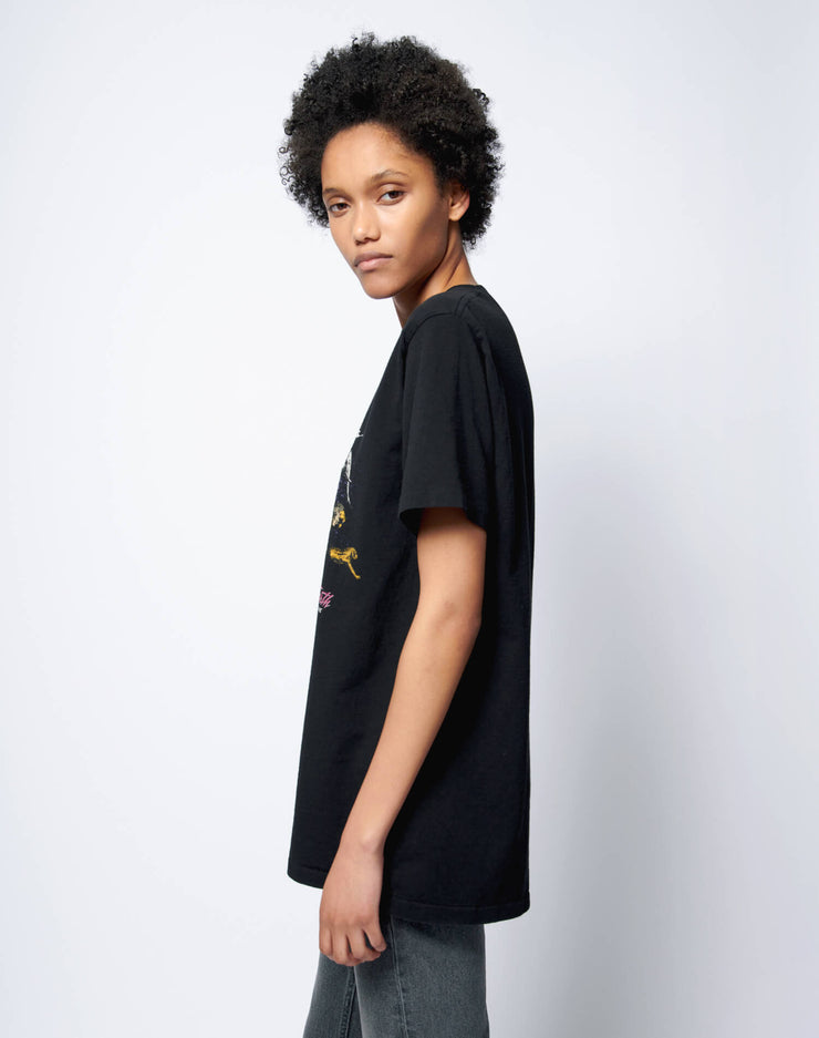 "80s Oversized ""Care for the Earth"" Tee - Vintage Black"