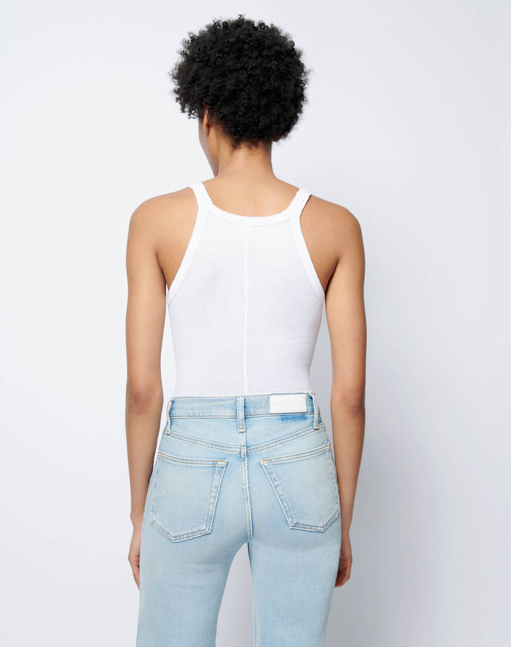 Ribbed Tank Bodysuit - Optic White