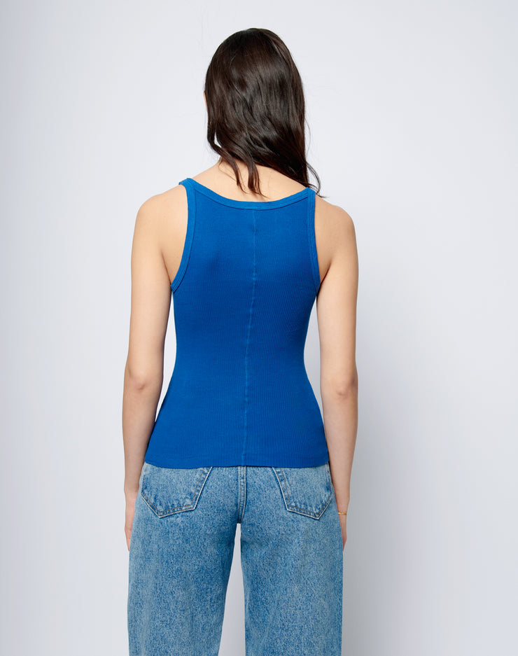 Ribbed Tank - Cobalt Blue