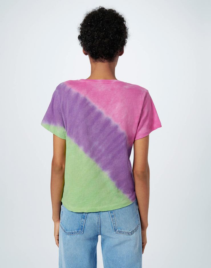 Classic Tee - Pink Purple Lime Ombre