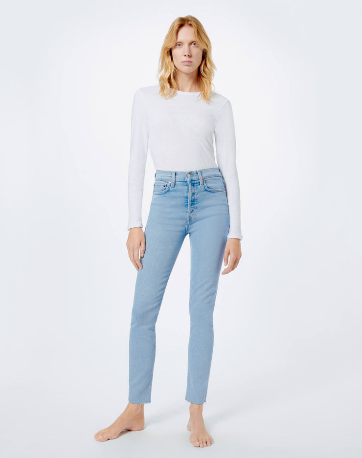 Comfort Stretch High Rise Ankle Crop - Light 2