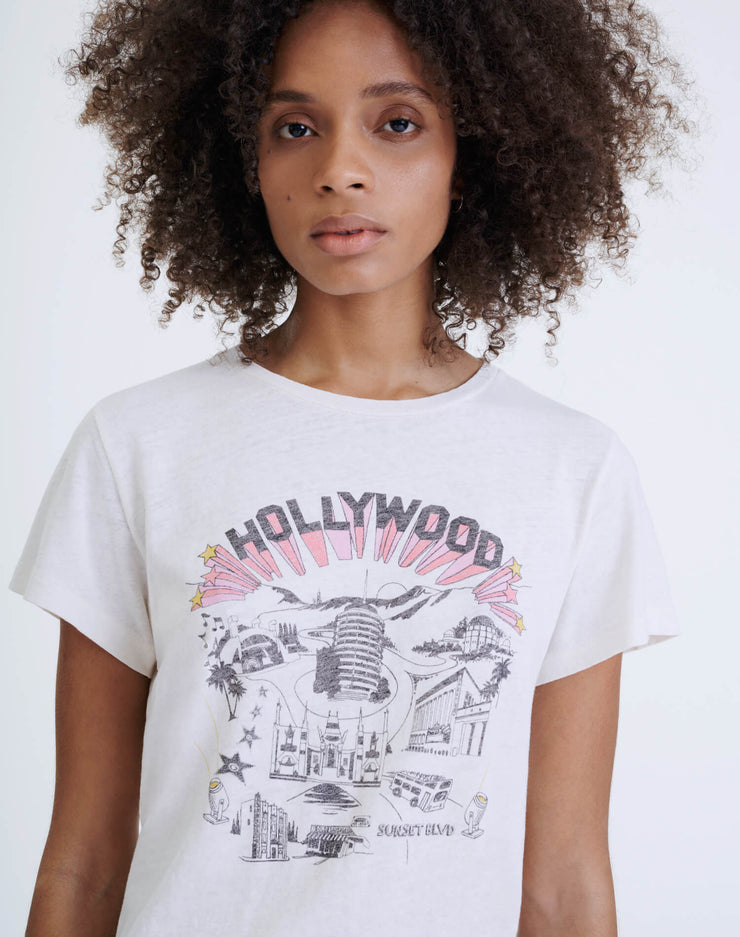 "Classic ""Hollywood"" Tee - Vintage White"