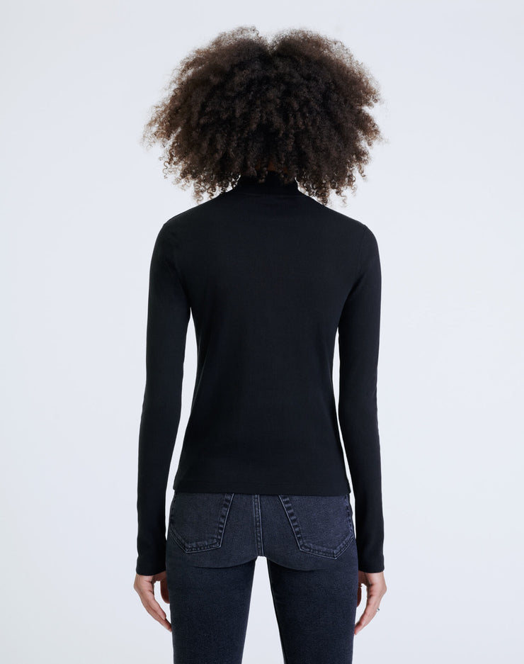 60s Mock Neck L/S Tee - Black