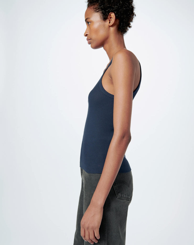 Ribbed Tank - Navy