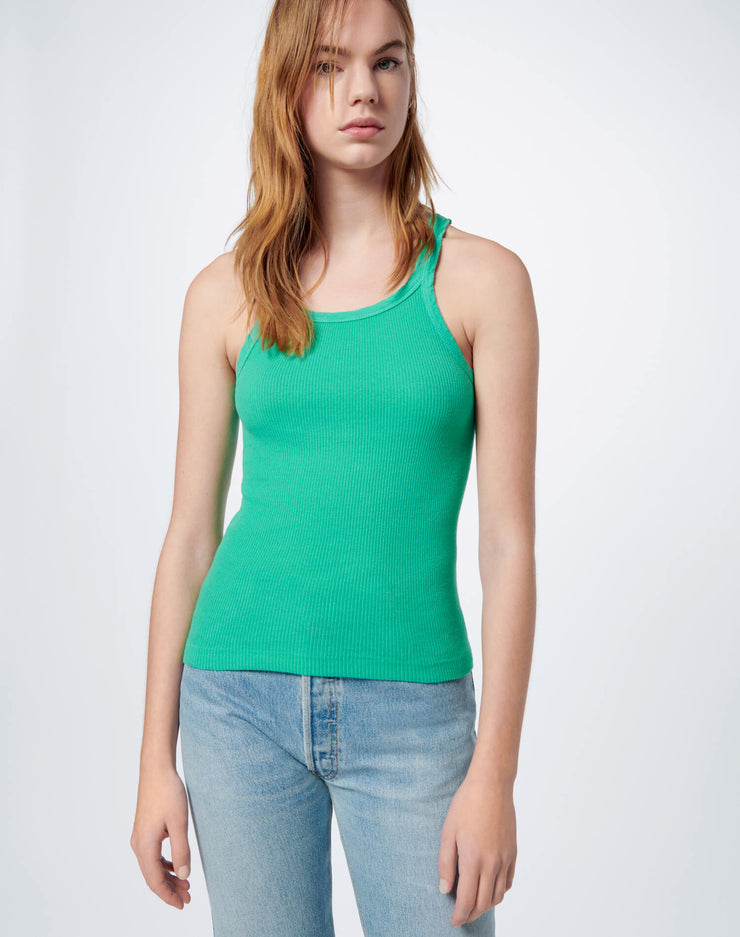 Ribbed Tank - Sea Green
