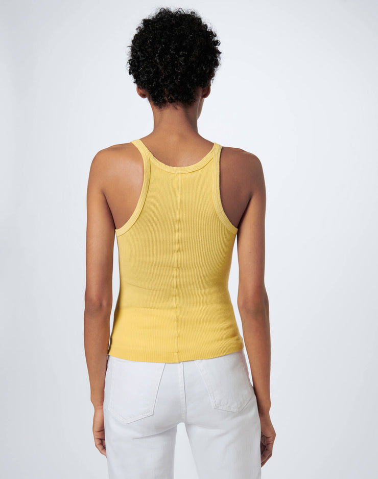 Ribbed Tank - Lemon