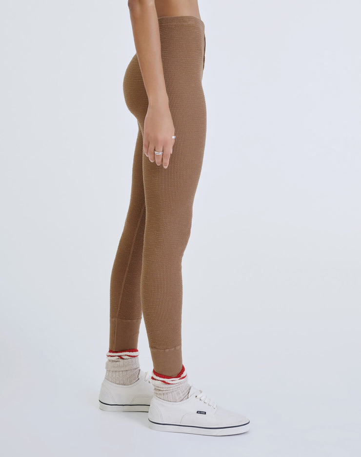 Thermal Legging - Tan Brown