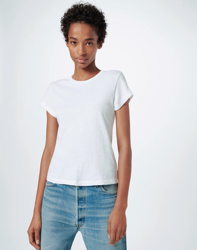 Heritage Cotton 1960s Slim Tee - Optic White