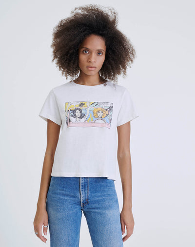 "Classic ""Road Trip"" Tee - Vintage White"
