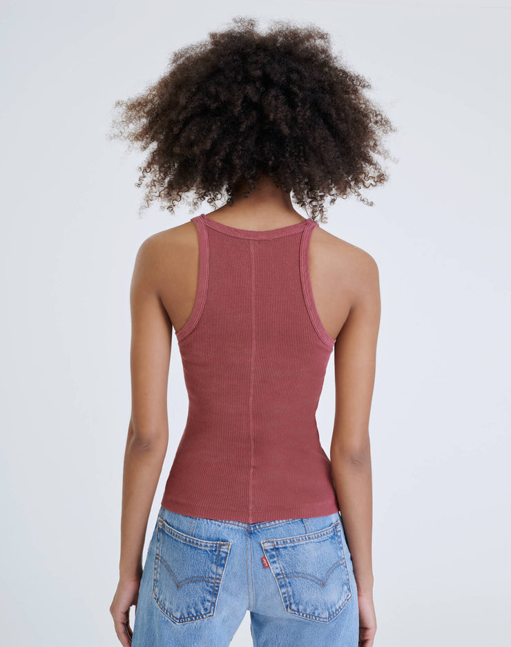 Ribbed Tank - Natural Berry