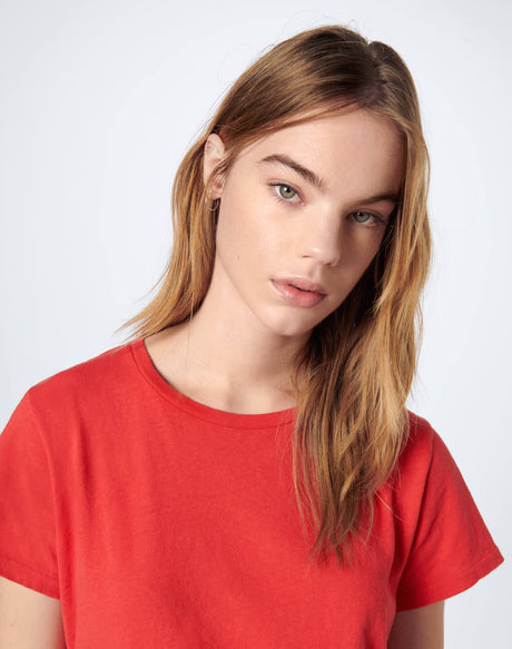 Heritage Cotton Classic Tee - Red Orange