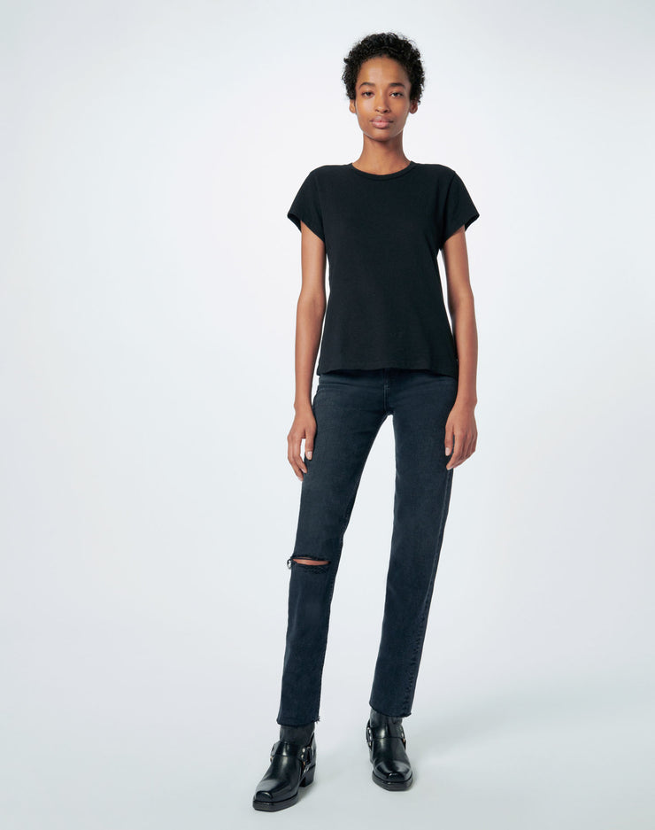 Heritage Cotton 1960s Slim Tee - Black