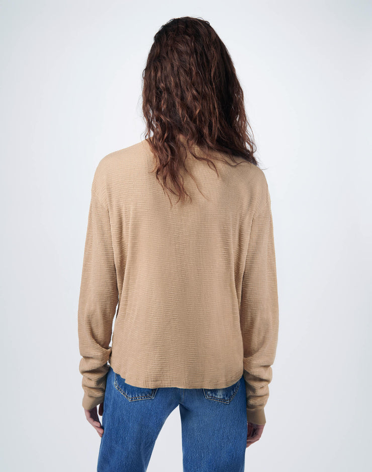 Thermal Long Sleeve Tee - Sand
