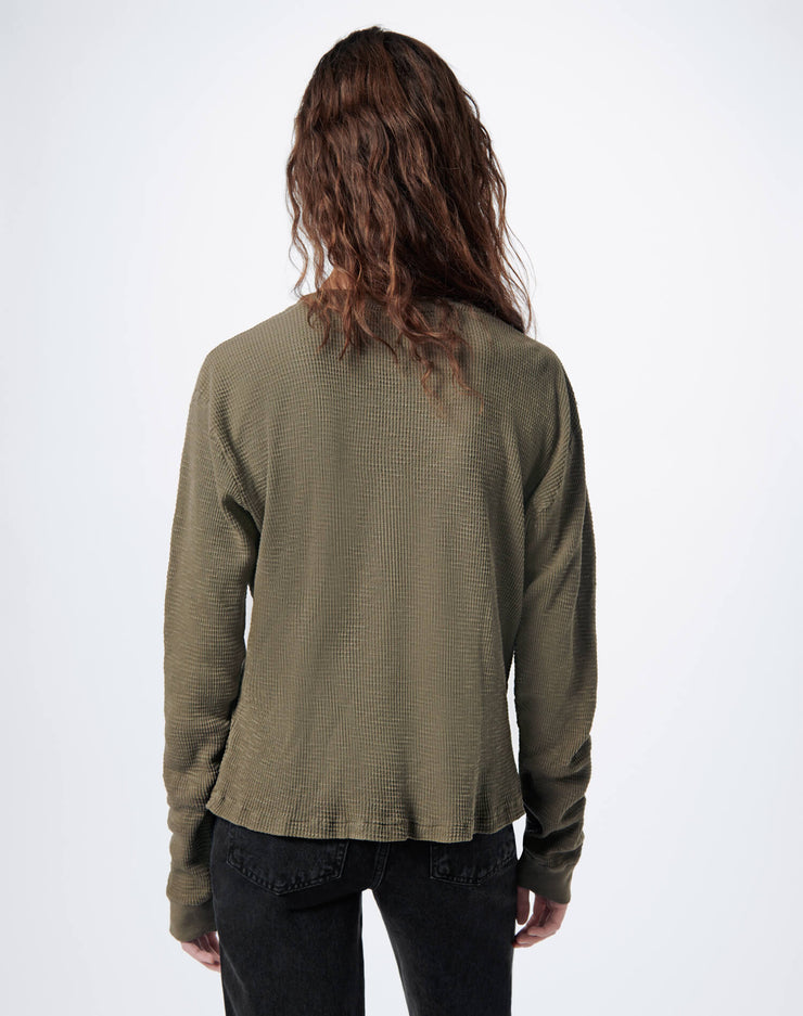Thermal Long Sleeve Tee - Vintage Green