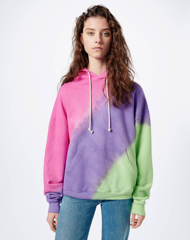 Oversized Hoodie - Pink Purple Lime Ombre