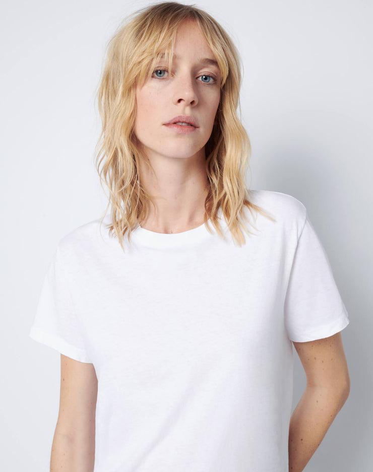 Modern Cotton Loose Tee - Optic White