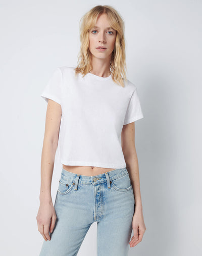 Modern Cotton 1950's Boxy Tee - Optic White