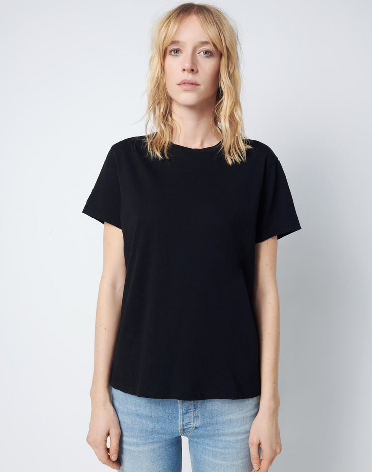 Modern Cotton Loose Tee - Jet Black