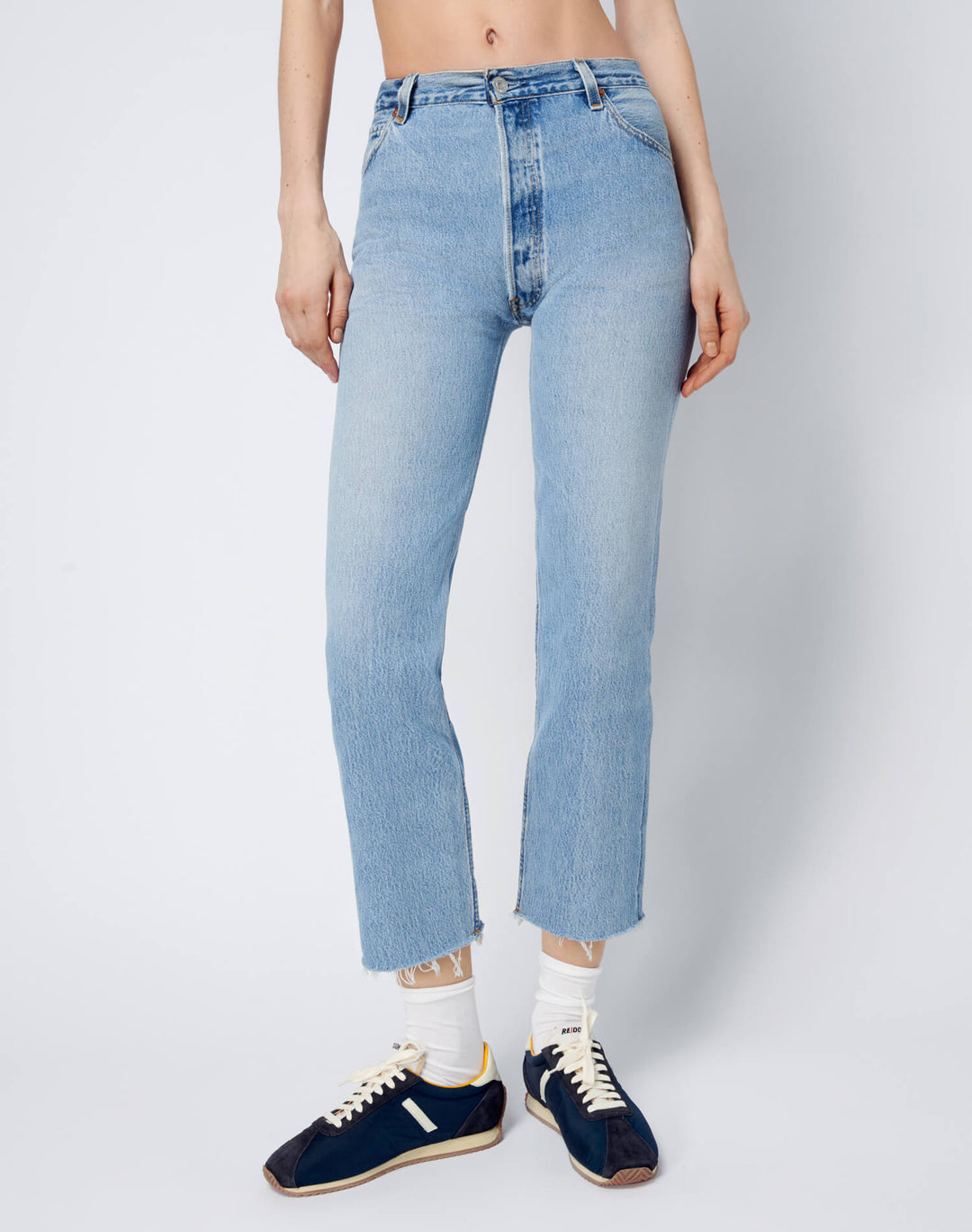70s Super Crop Boot by Re Done, available on shopredone.com for $340 Kaia Gerber Pants SIMILAR PRODUCT