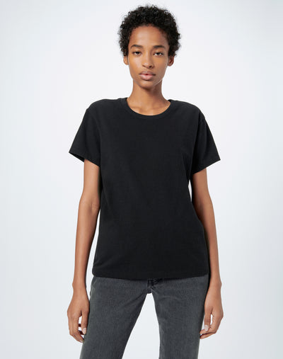 70s Recycled Loose Tee - Black