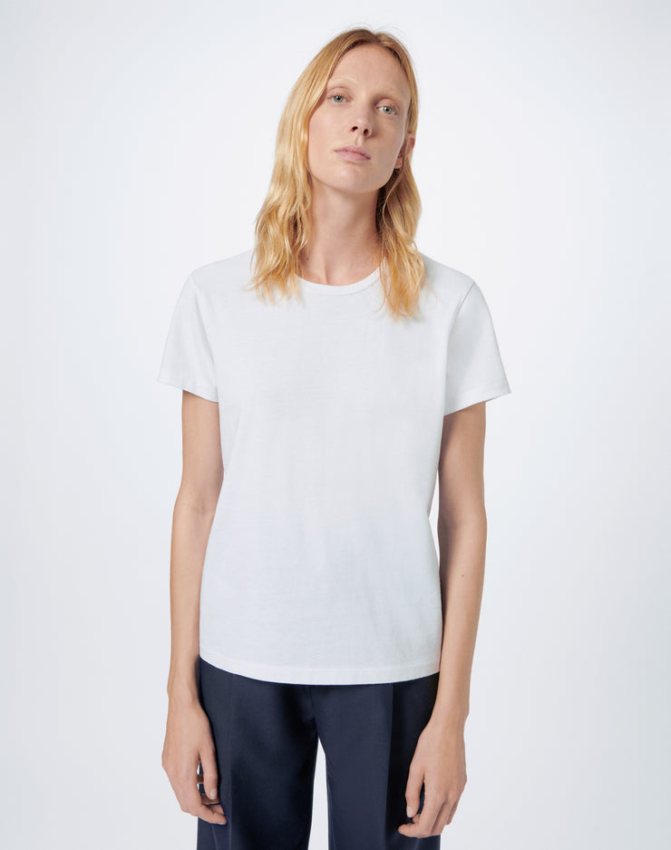 70s Recycled Loose Tee - Optic White