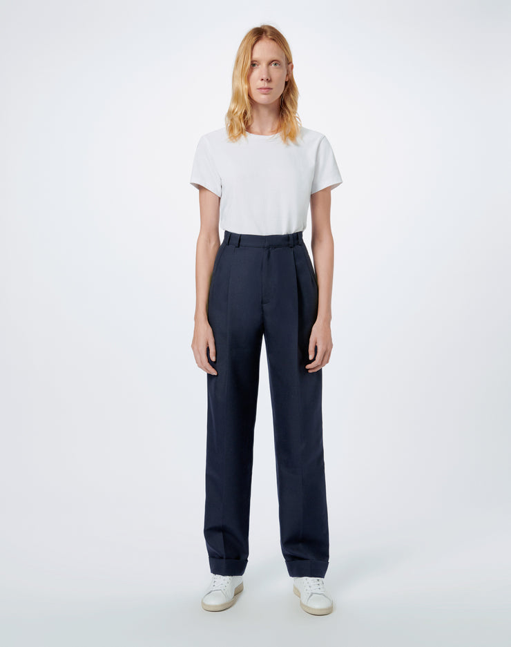 80s Pleated Trouser - Navy