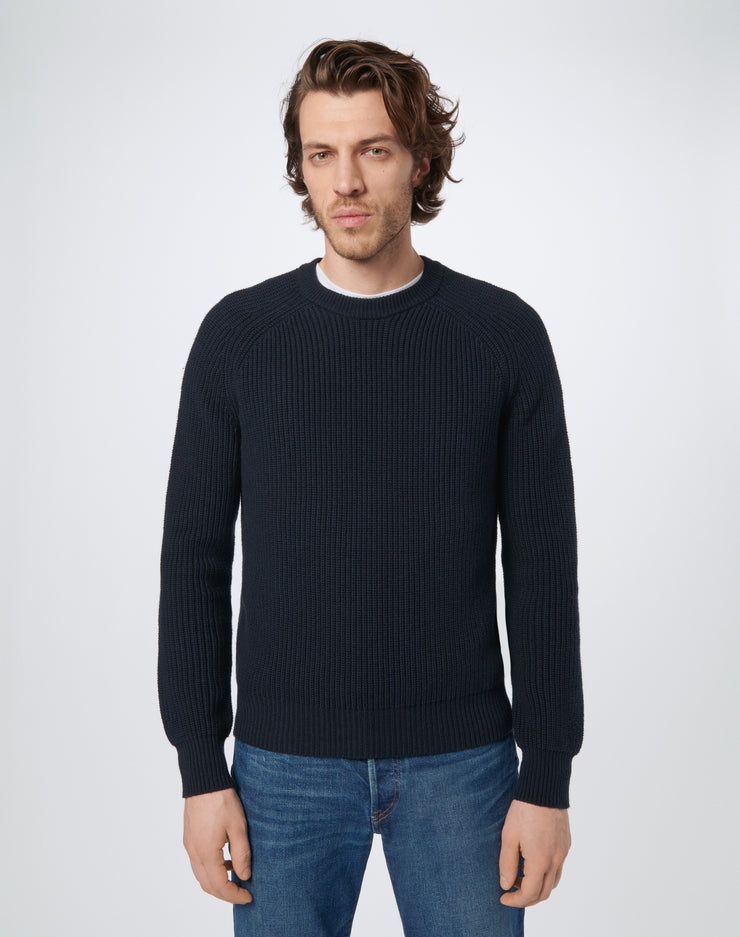 60s Fisherman Crewneck - Navy