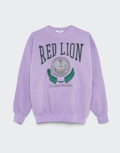Upcycled Collegiate Sweatshirt - Heather Lilac