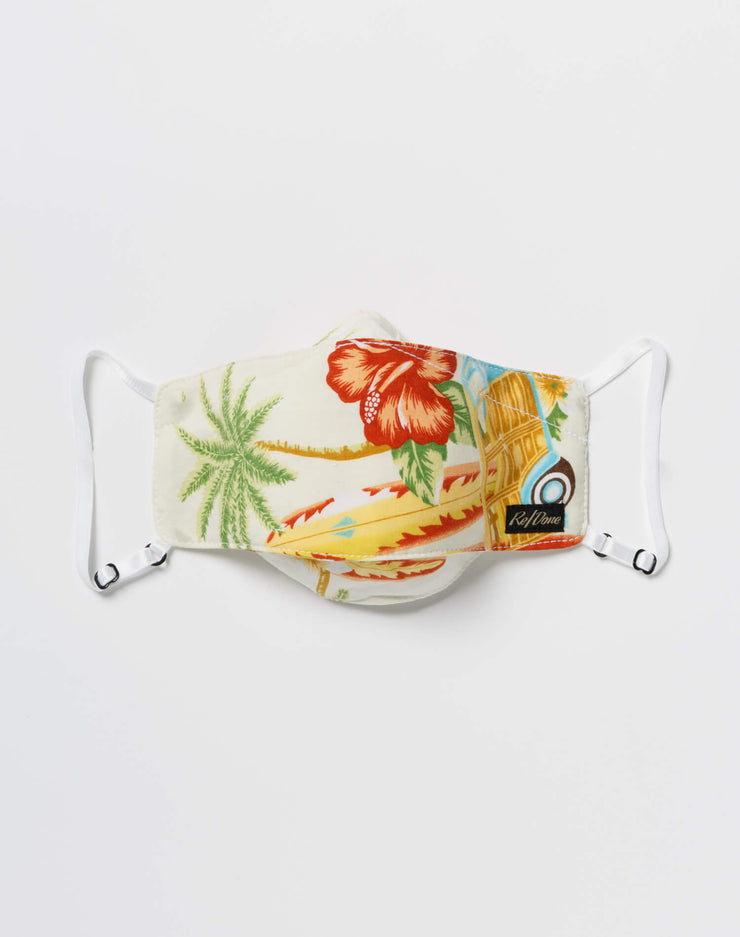 Upcycled Hawaiian Mask Pouch Set - Assorted
