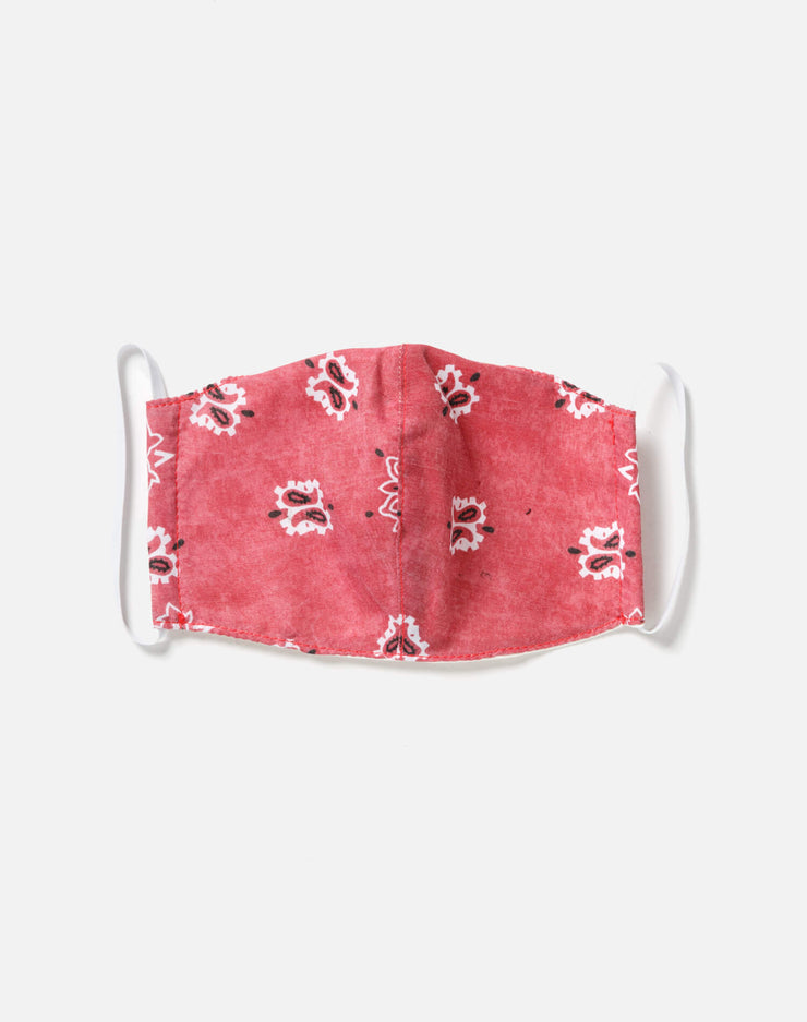 Upcycled Bandana Mask - Red