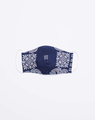 Upcycled Bandana Mask - Navy