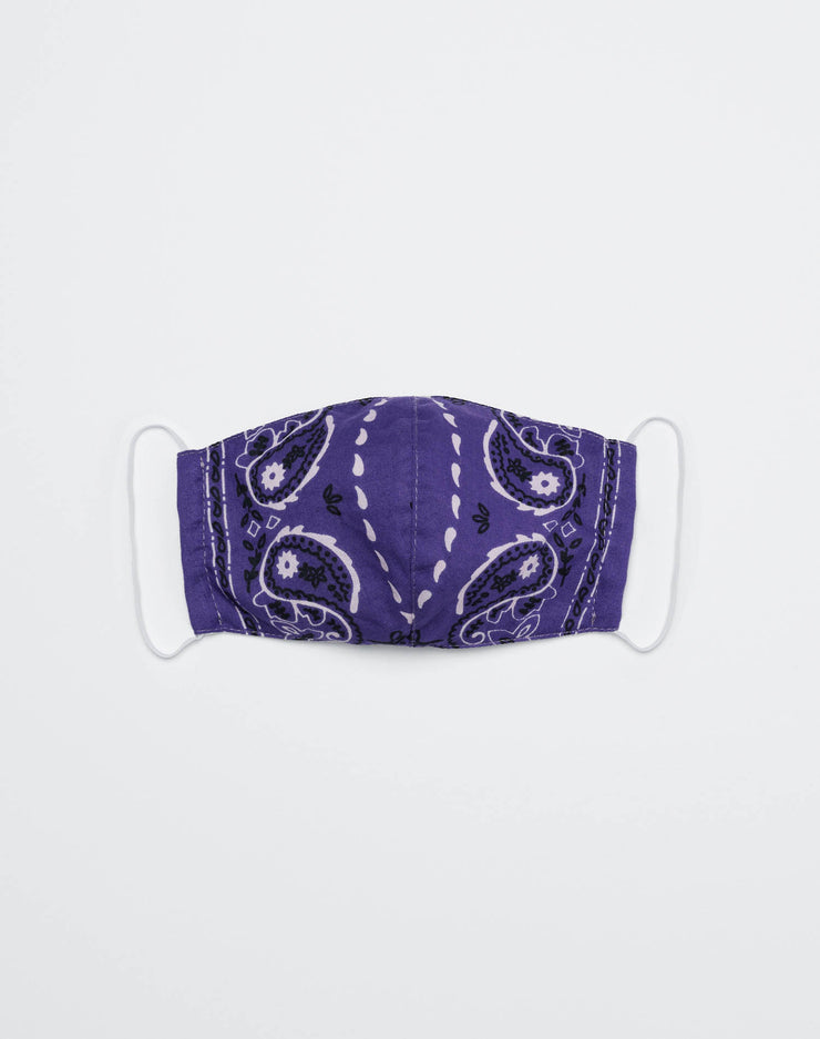 Upcycled Bandana Mask - Purple