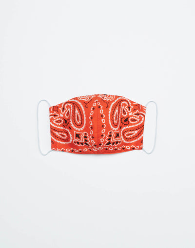 Upcycled Bandana Mask - Orange